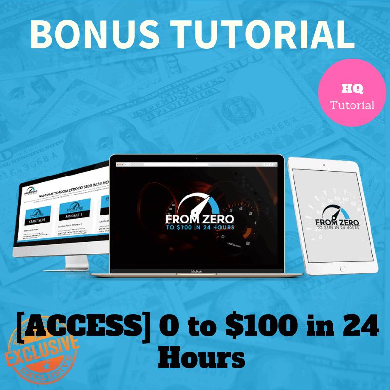 0 to $100 in 24 Hours bonus for Orange Builder