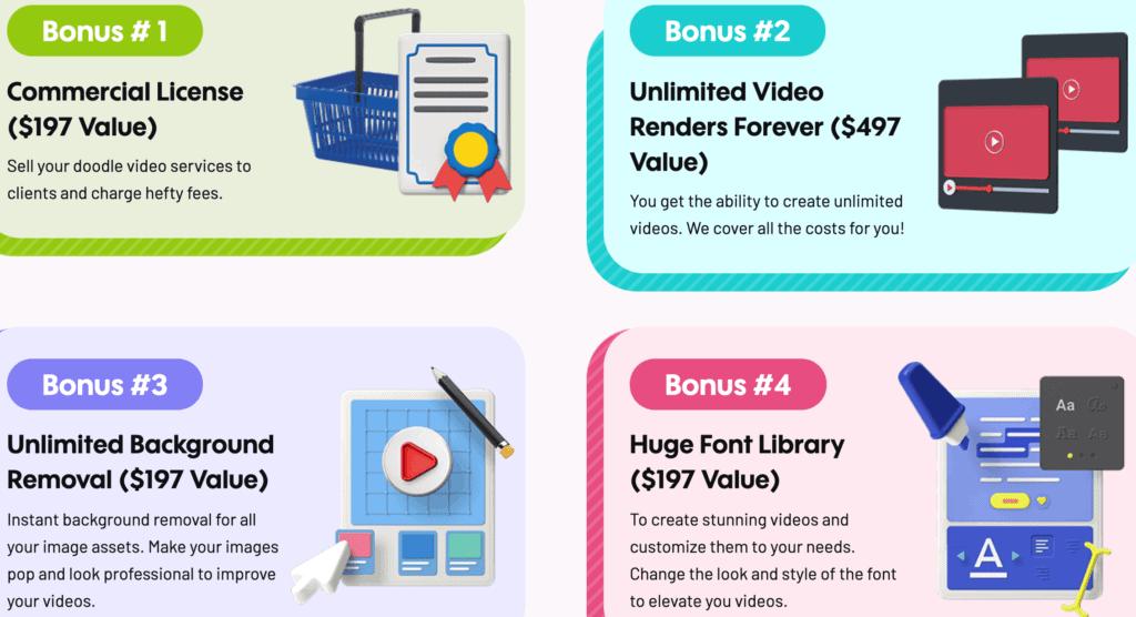 videocreator bonuses